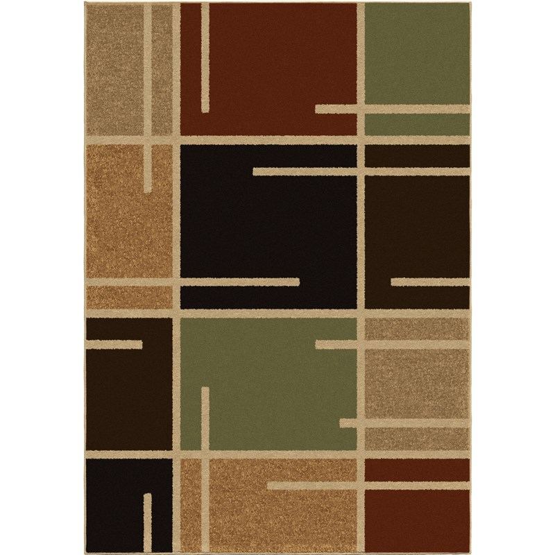 Orian Rugs Indoor/outdoor Blocks Royce Multi Area Rug 5'2 X 7'6