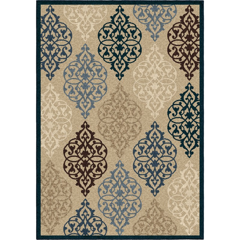 Orian Rugs Indoor/outdoor Scroll Hastings Multi Area Rug 5'2 X 7'6