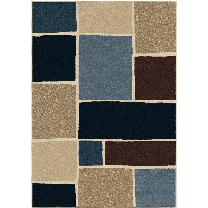 Orian Rugs Indoor/outdoor Blocks Graycliff Multi Area Rug 5'2 X 7'6