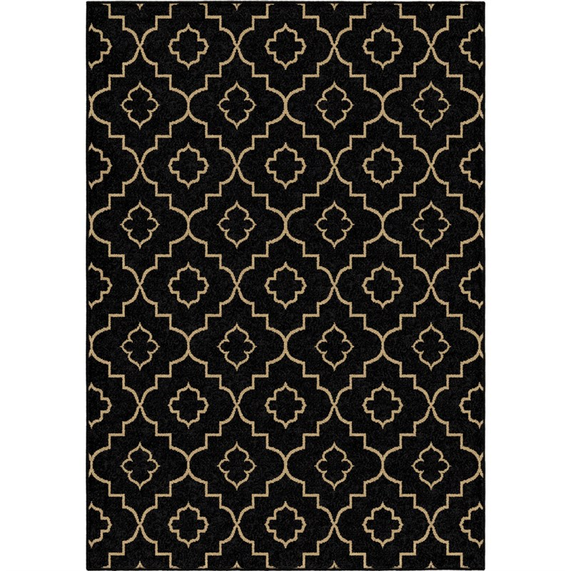 Orian Rugs Indoor/outdoor Trellis Tunnis Brown Area Rug 5'2 X 7'6