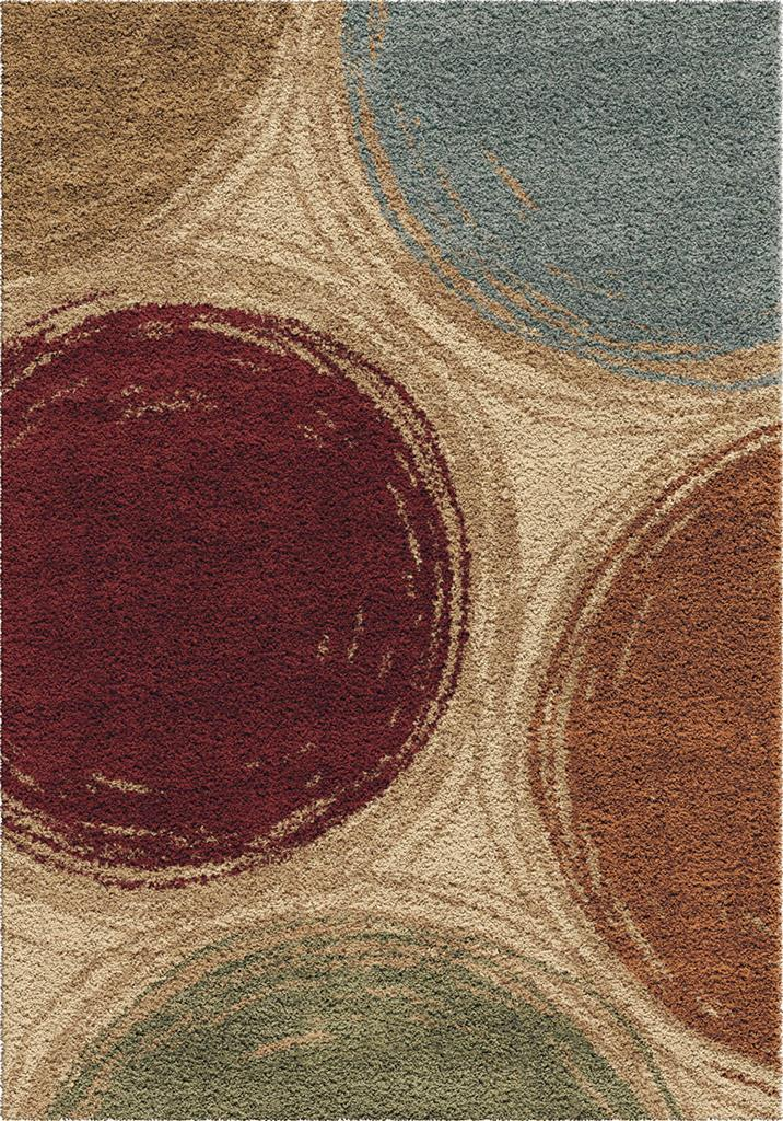 Orian Rugs Plush Circles Sketching Circles Multi Area Rug 5'3 X 7'6
