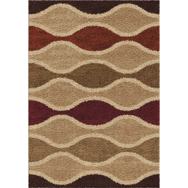 Orian Rugs Plush Waves Making Waves Multi Area Rug 5'3 X 7'6