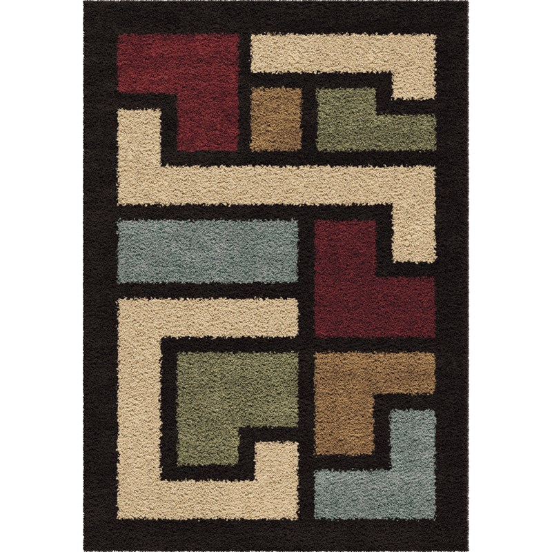 Orian Rugs Plush Shapes Link Multi Area Rug 5'3 X 7'6