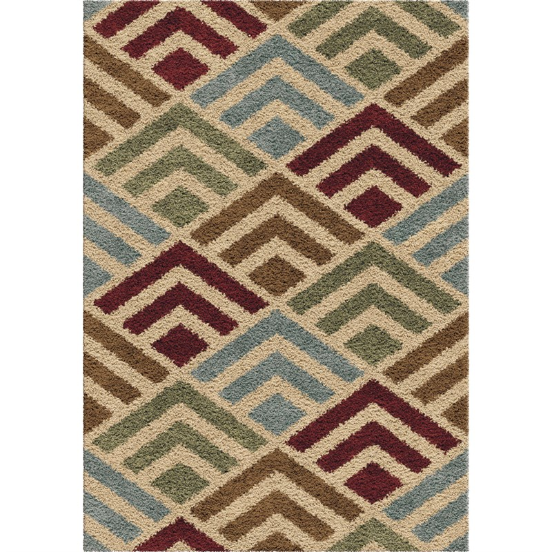 Orian Rugs Plush Shapes Amazement Multi Area Rug 5'3 X 7'6
