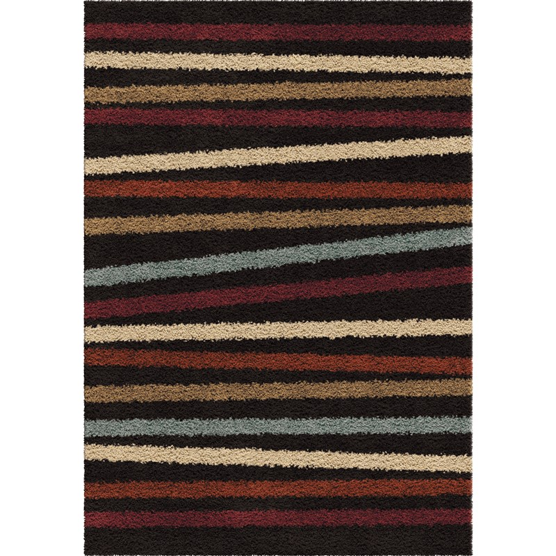 Orian Rugs Plush Stripes Belly Band Multi Area Rug 5'3 X 7'6