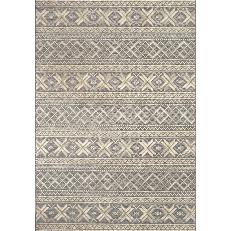Orian Rugs Indoor/ Outdoor Textured Cablecross Gray Area Rug 5'1 X 7'6