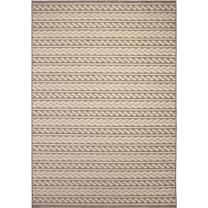 Orian Rugs Indoor/ Outdoor Knit Cableknots Tan Area Rug 5'1 X 7'6