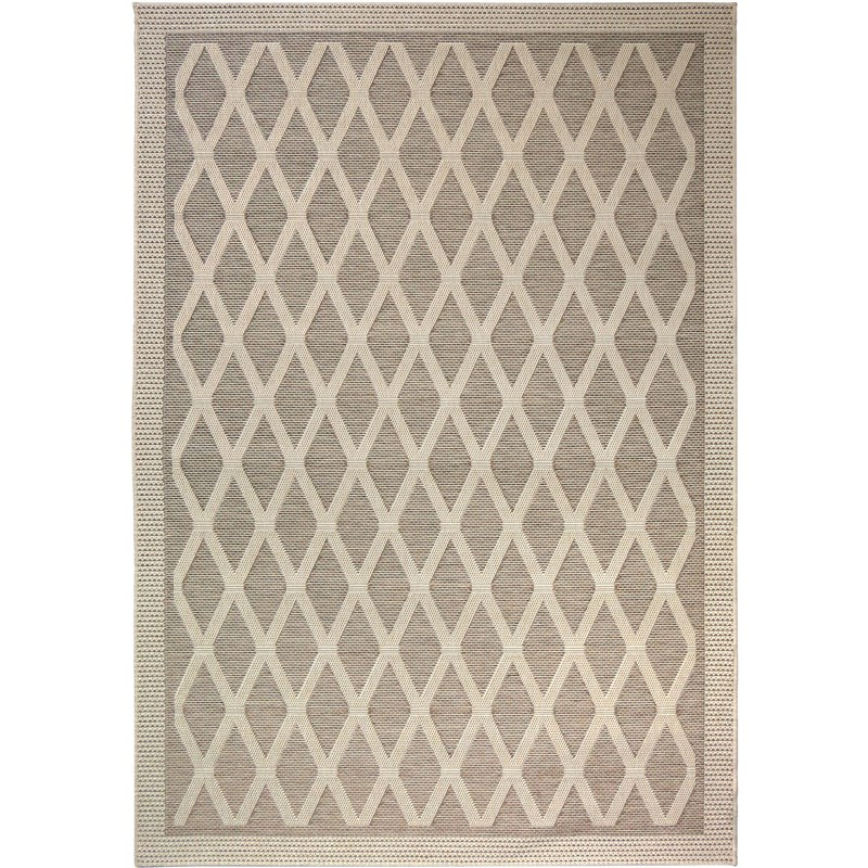 Orian Rugs Indoor/ Outdoor Diamonds Regal Dimension Tan Area Rug 5'1 X 7'6