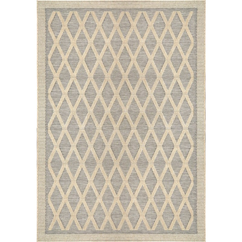 Orian Rugs Indoor/ Outdoor Diamonds Regal Dimension Gray Area Rug 5'1 X 7'6