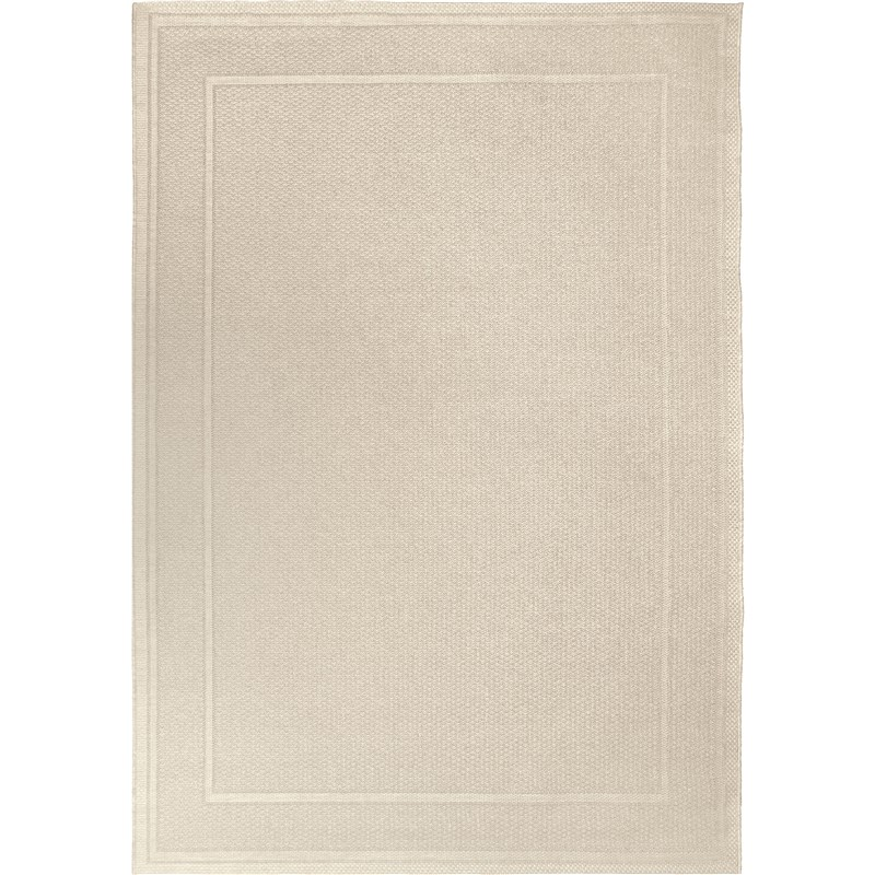 Orian Rugs Indoor/ Outdoor Border Bonita Ivory Area Rug 5'1 X 7'6