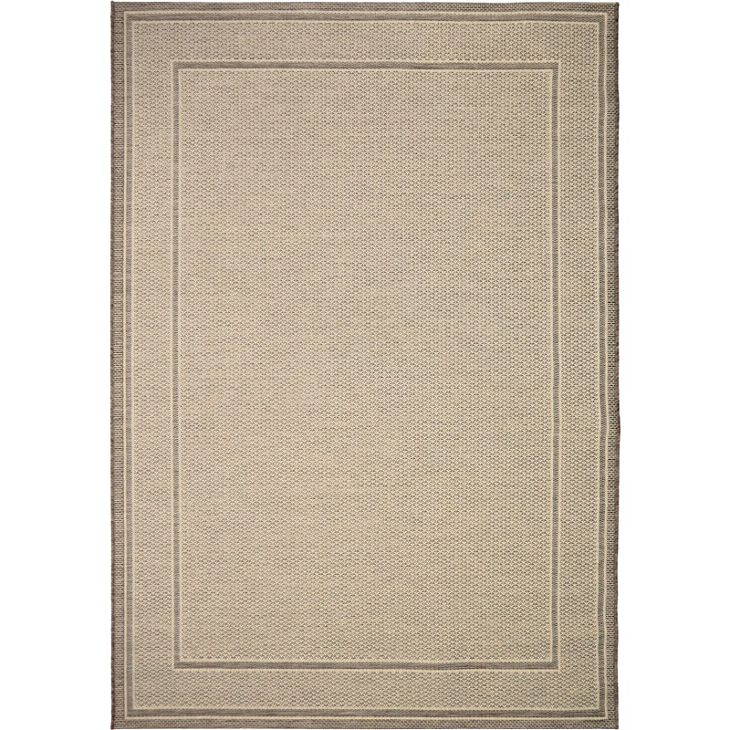 Orian Rugs Indoor/ Outdoor Border Bonita Tan Area Rug 5'1 X 7'6