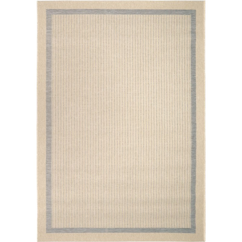 Orian Rugs Indoor/ Outdoor Border Aviva Gray Area Rug 5'1 X 7'6