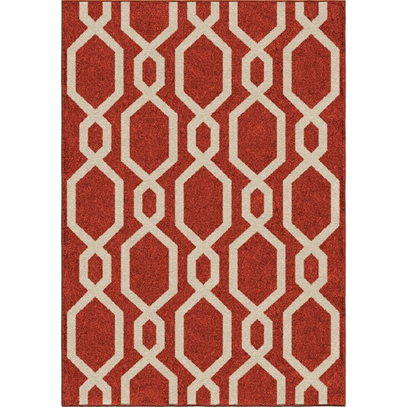 Orian Rugs Kids Trellis Niagra Red Area Rug 3'10 X 5'2