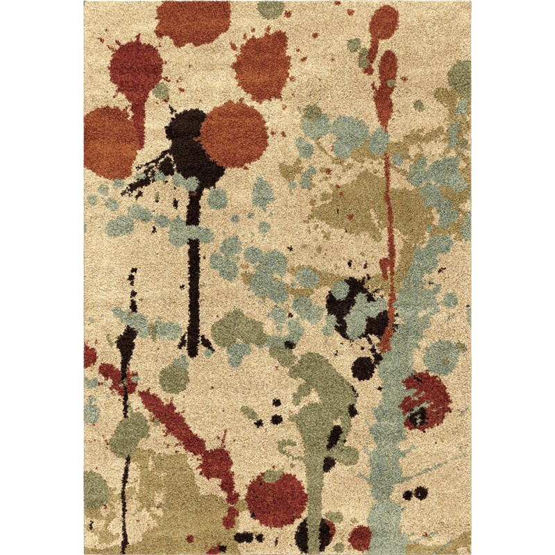 Orian Rugs Plush Abstract Funfetti Multi Area Rug 5'3 X 7'6