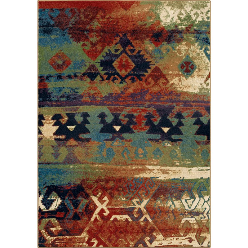 Orian Rugs Bright Color Southwest Elk River Multi Area Rug 5'3 X 7'6