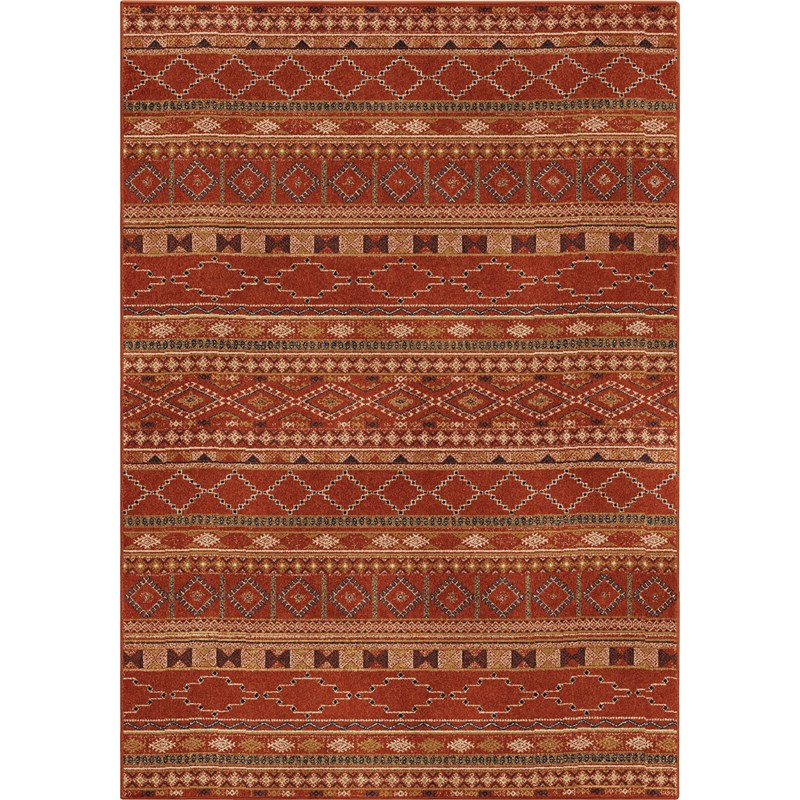 Orian Rugs Bright Color Medallion Zemmour Red Area Rug 5'3 X 7'6
