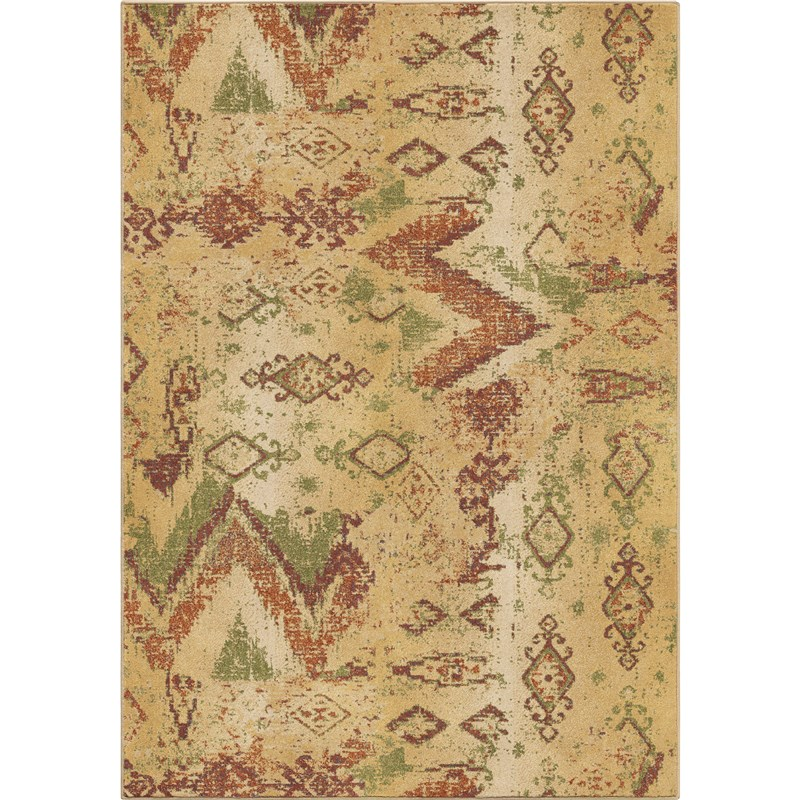 Orian Rugs Unique Coloring Border Helena Beige Area Rug 5'3 X 7'6