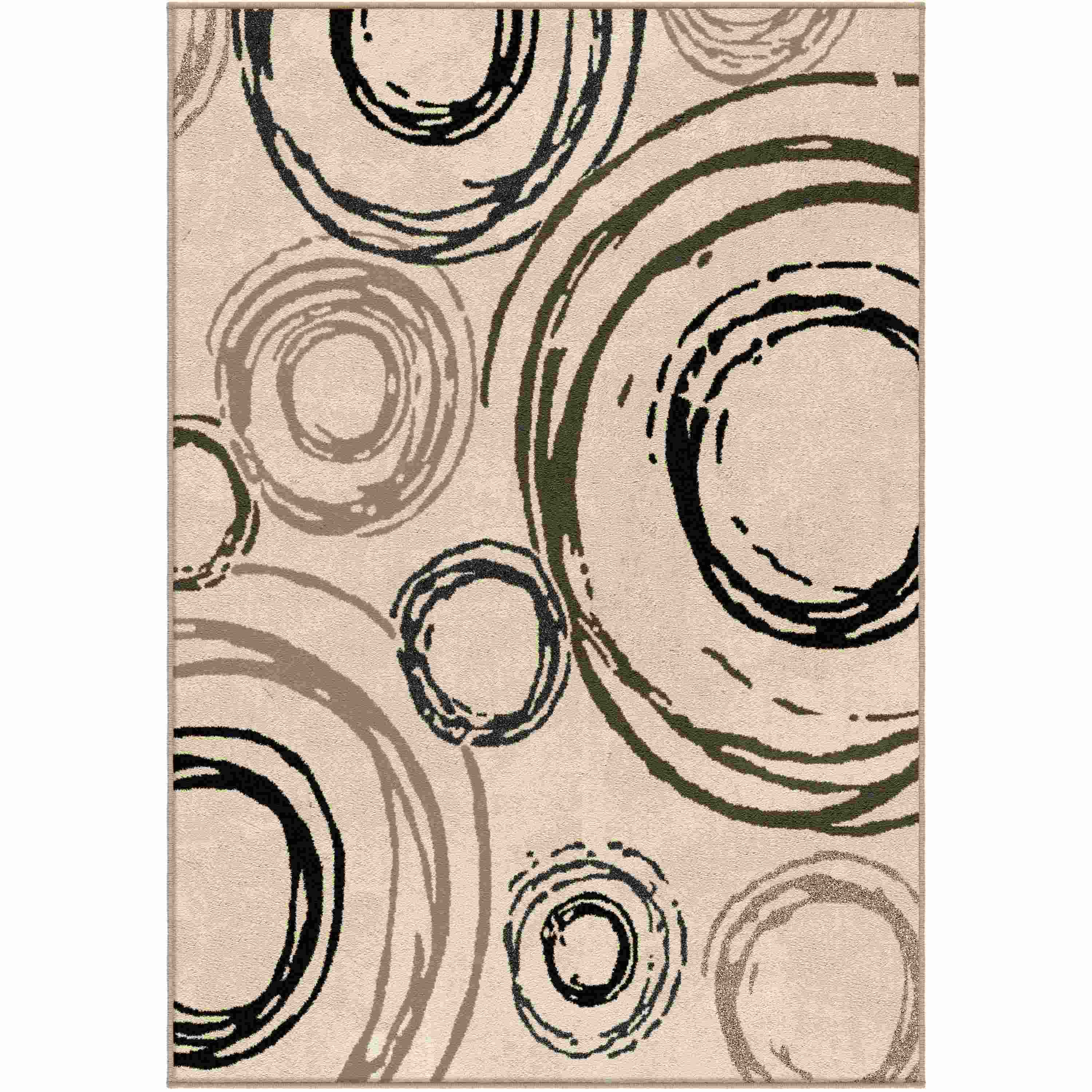 Orian Rugs Indoor Circles Centric Lambswool Area Rug