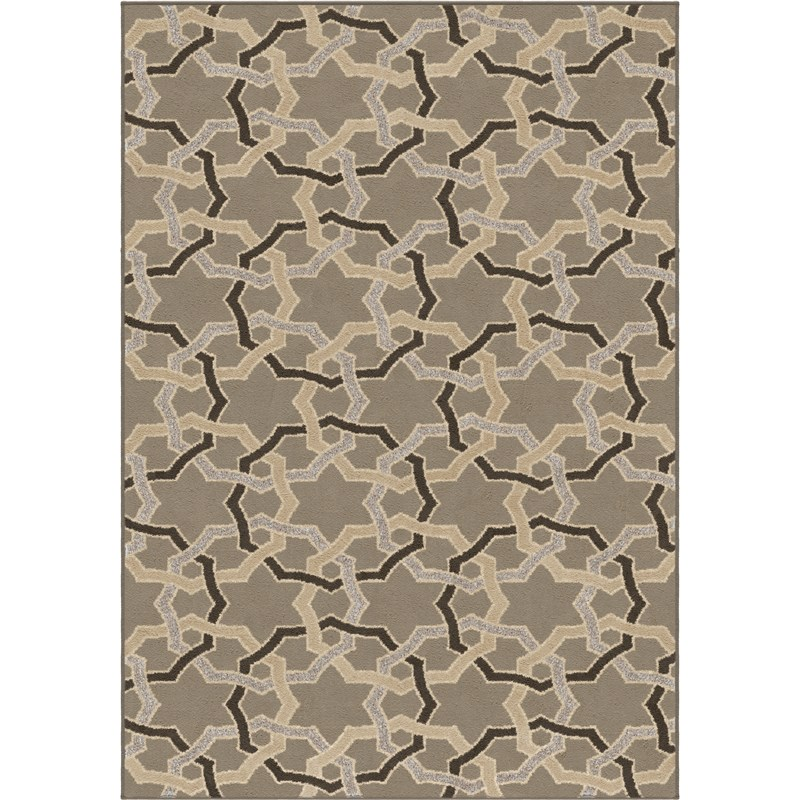 Orian Rugs Trendy Colors Rings Davidson Gray Area Rug 5'3 X 7'6