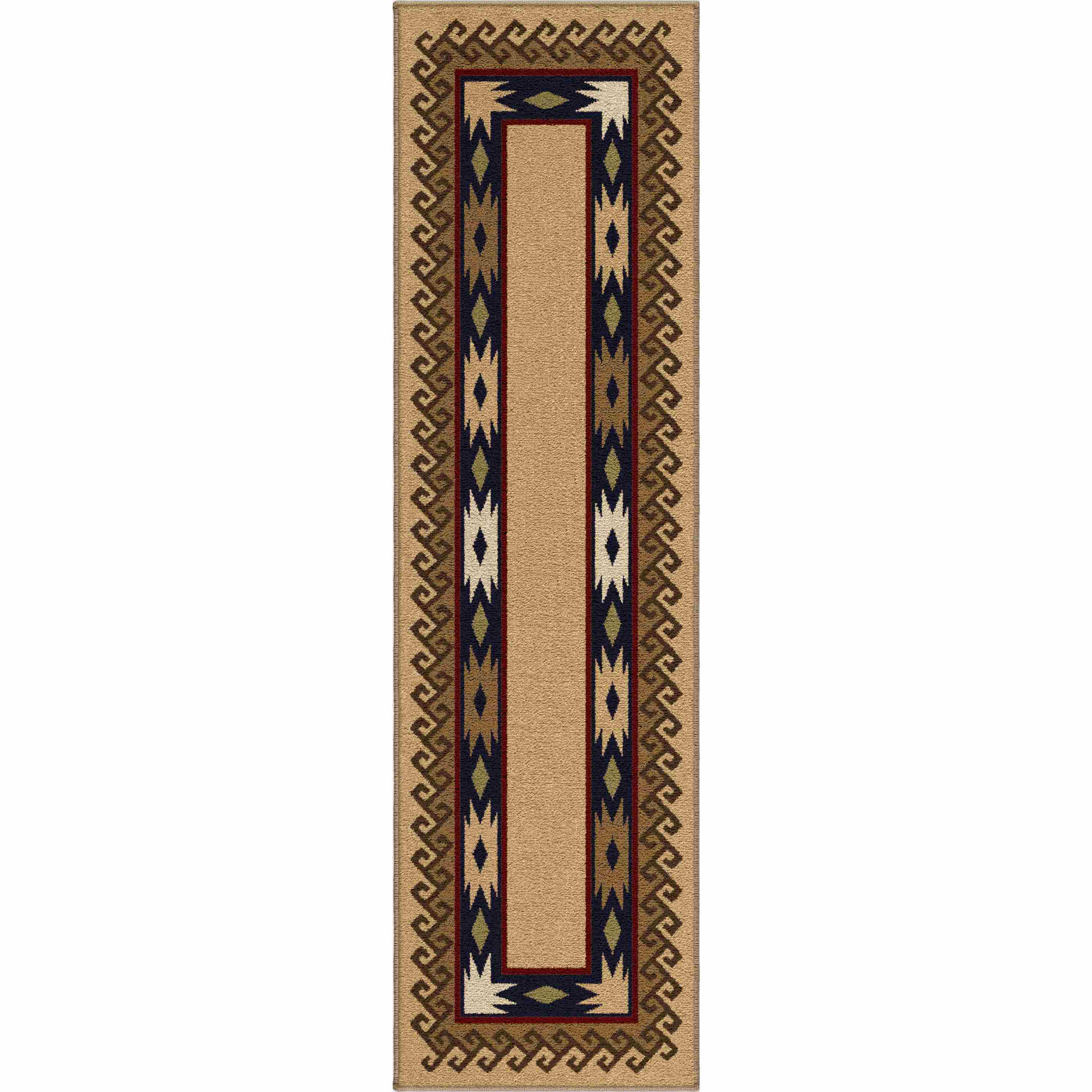 Orian Rugs Indoor Lodge Durango Parchment Runner