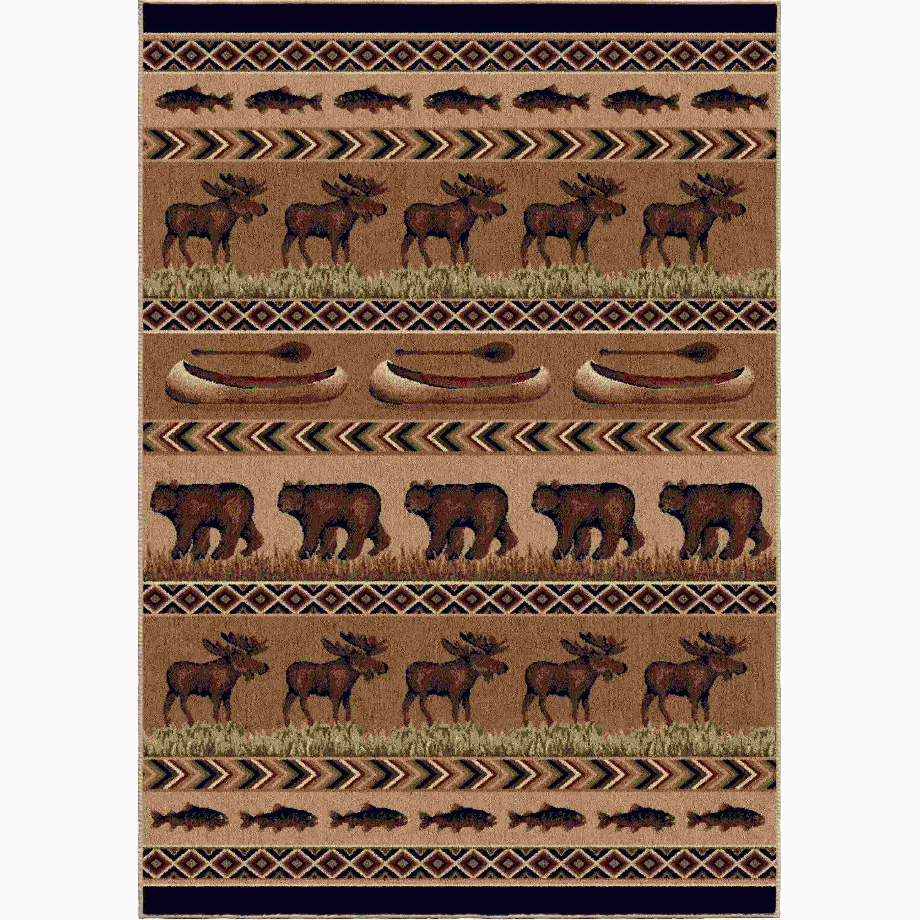 Orian Rugs Indoor Lodge Trophy Evening Area Rug