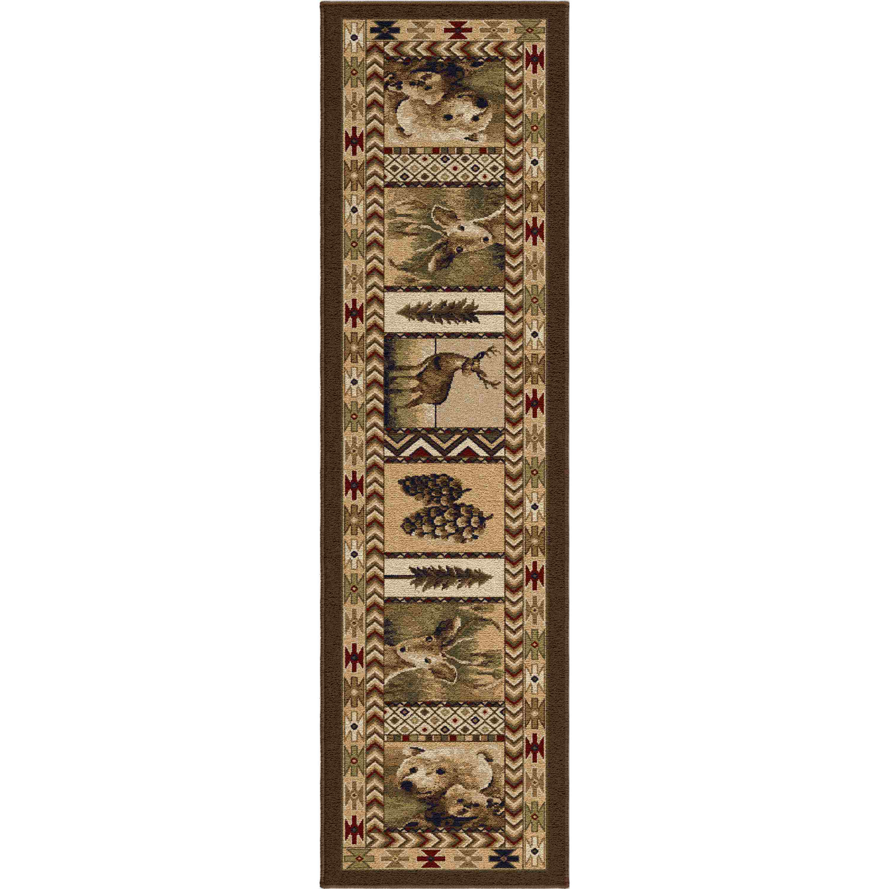 Orian Rugs Indoor Lodge High Country Sienna Runner