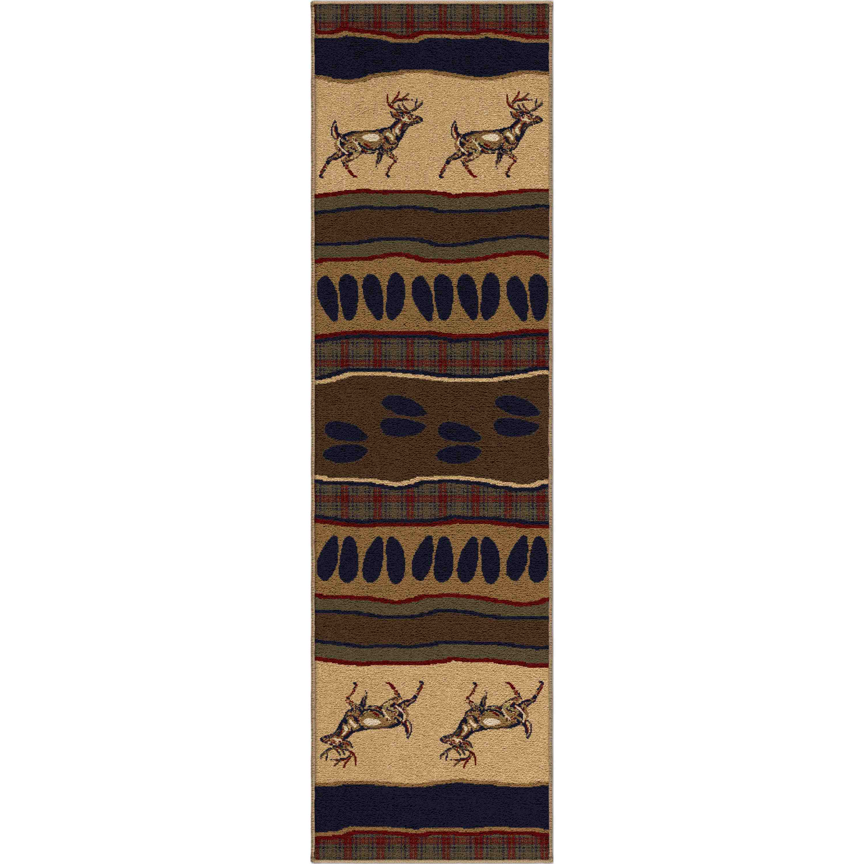 Orian Rugs Indoor Lodge Whitetail Parchment Runner