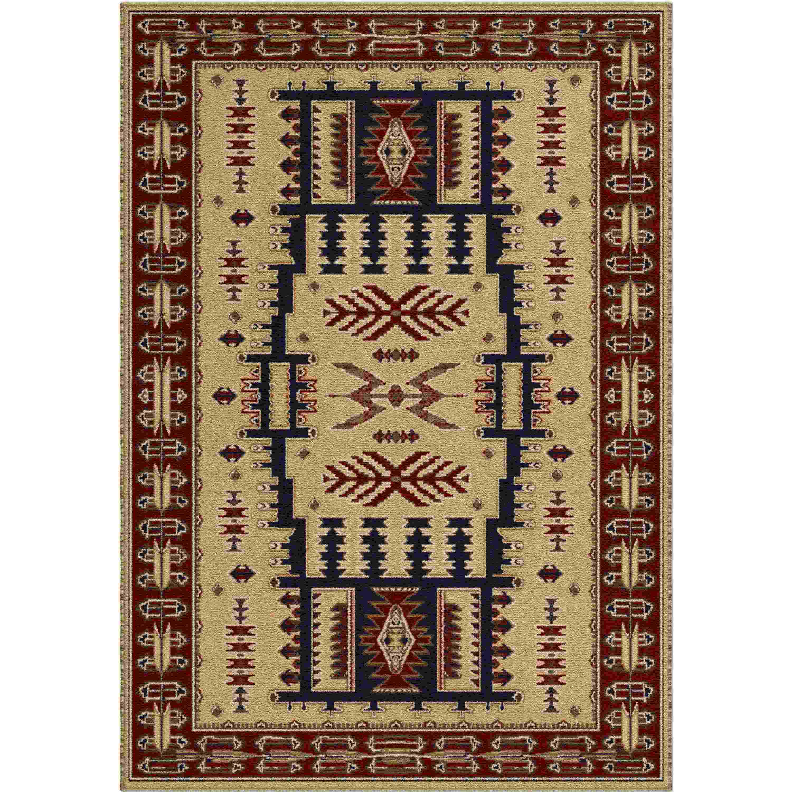 Orian Rugs Indoor Lodge Northfork Beige Area Rug
