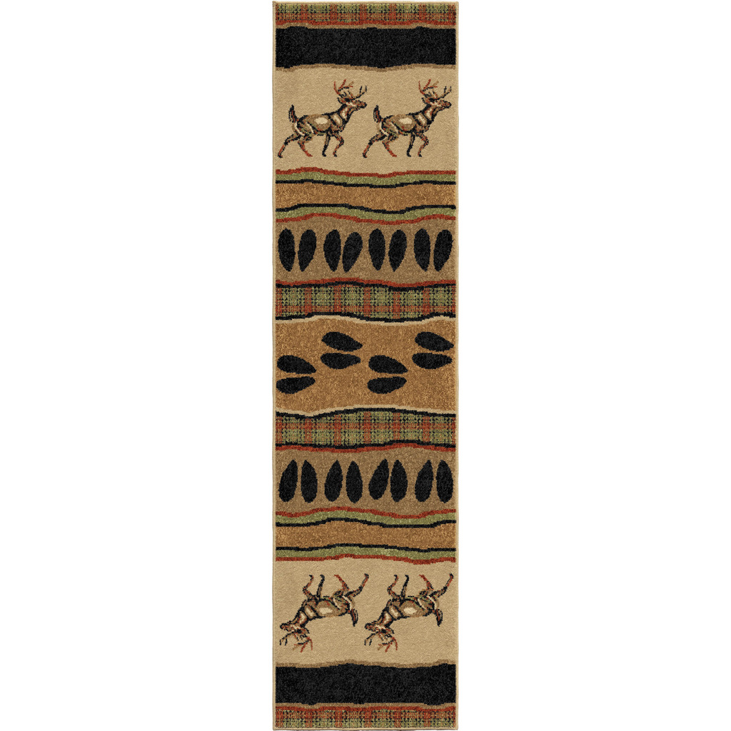 Orian White Tail Oxford Lodge/southwest Rugs