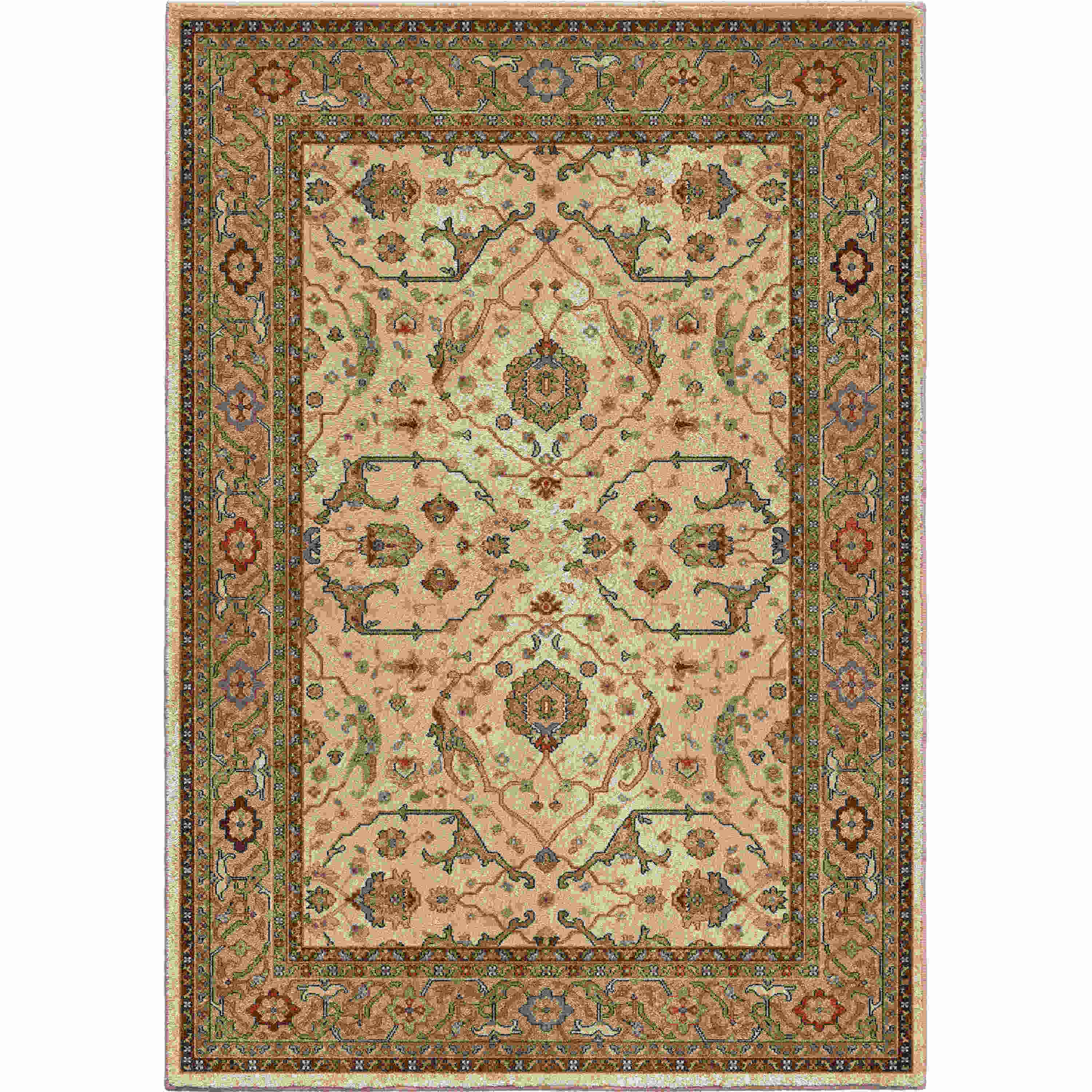 Orian Rugs Insanely Soft Floral Gambrell Beige Area Rug 7'10 X 10'10