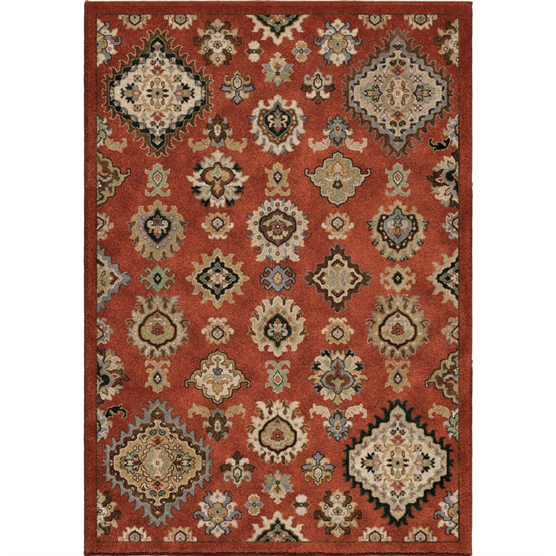 Orian Rugs Insanely Soft Southwest Larache Burnt Red Area Rug 5'3 X 7'6
