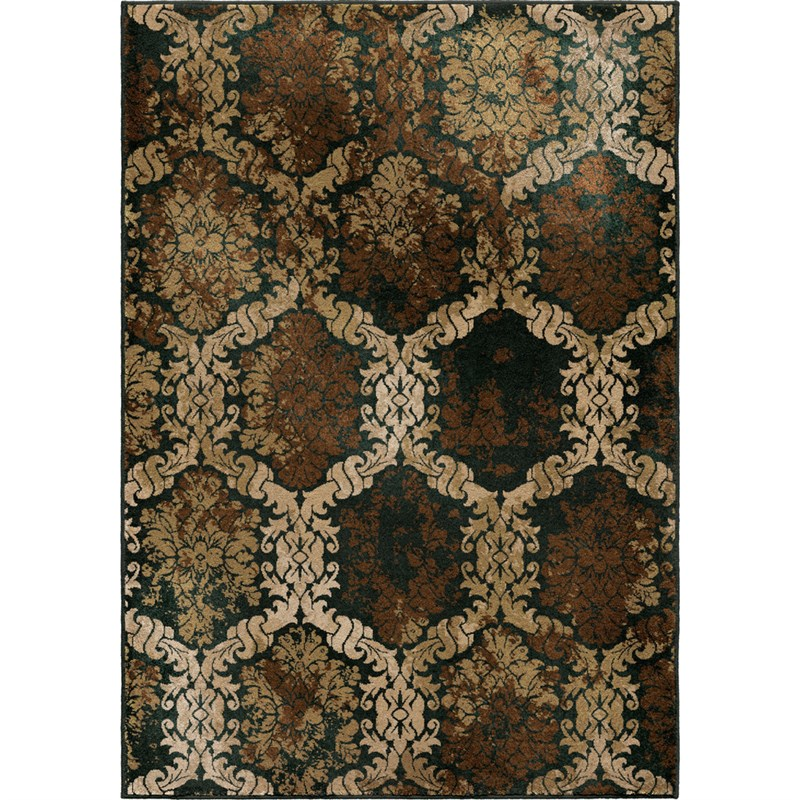 Orian Rugs Contemporary Vivacious Thorncliffe Brown