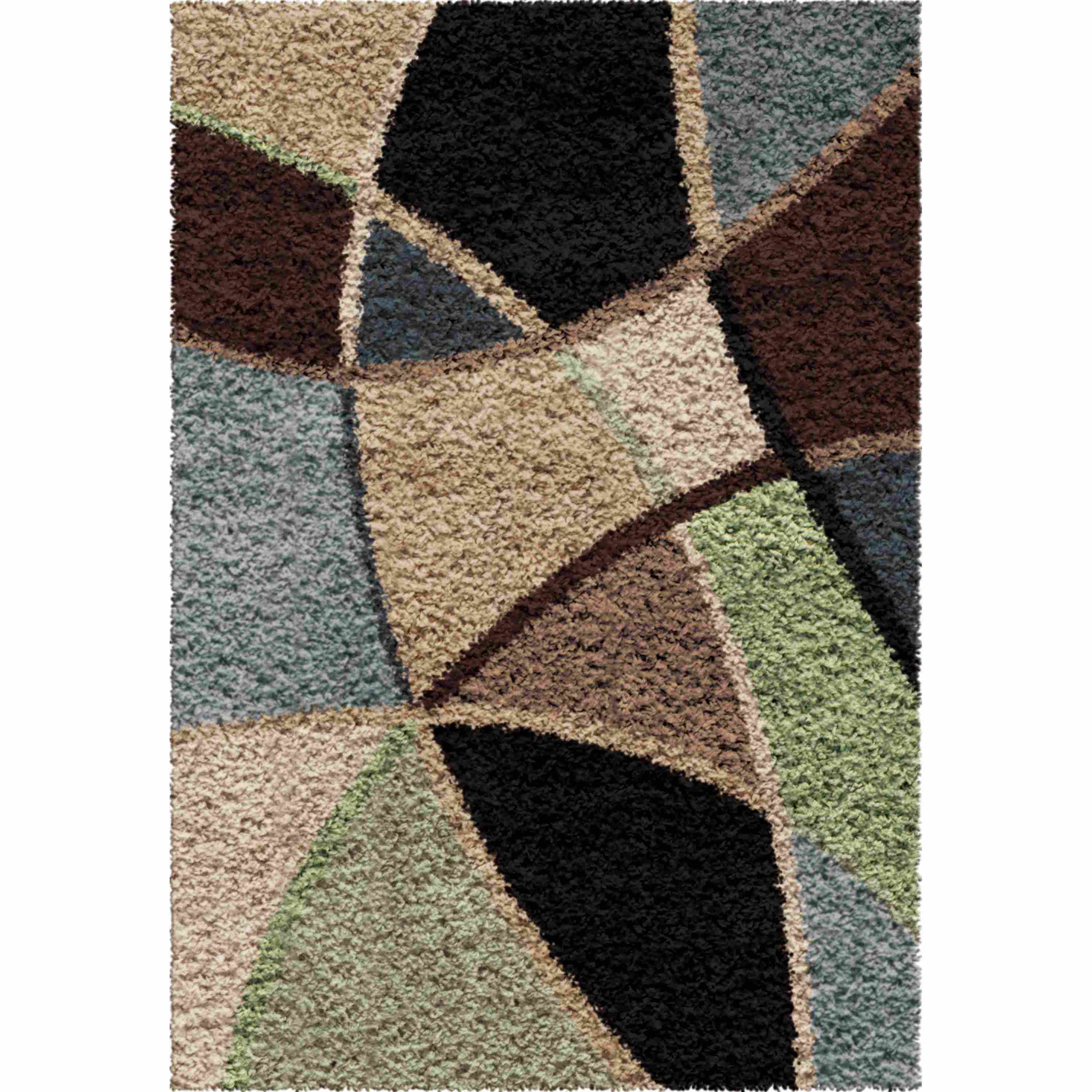 Orian Rugs Shag Abstract Divulge Blue Accent Rug