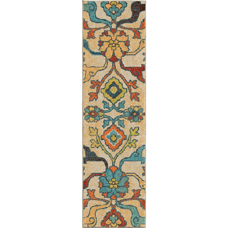 Orian Rugs Bright Color Floral Tibet Multi Runner 2u00273 ...