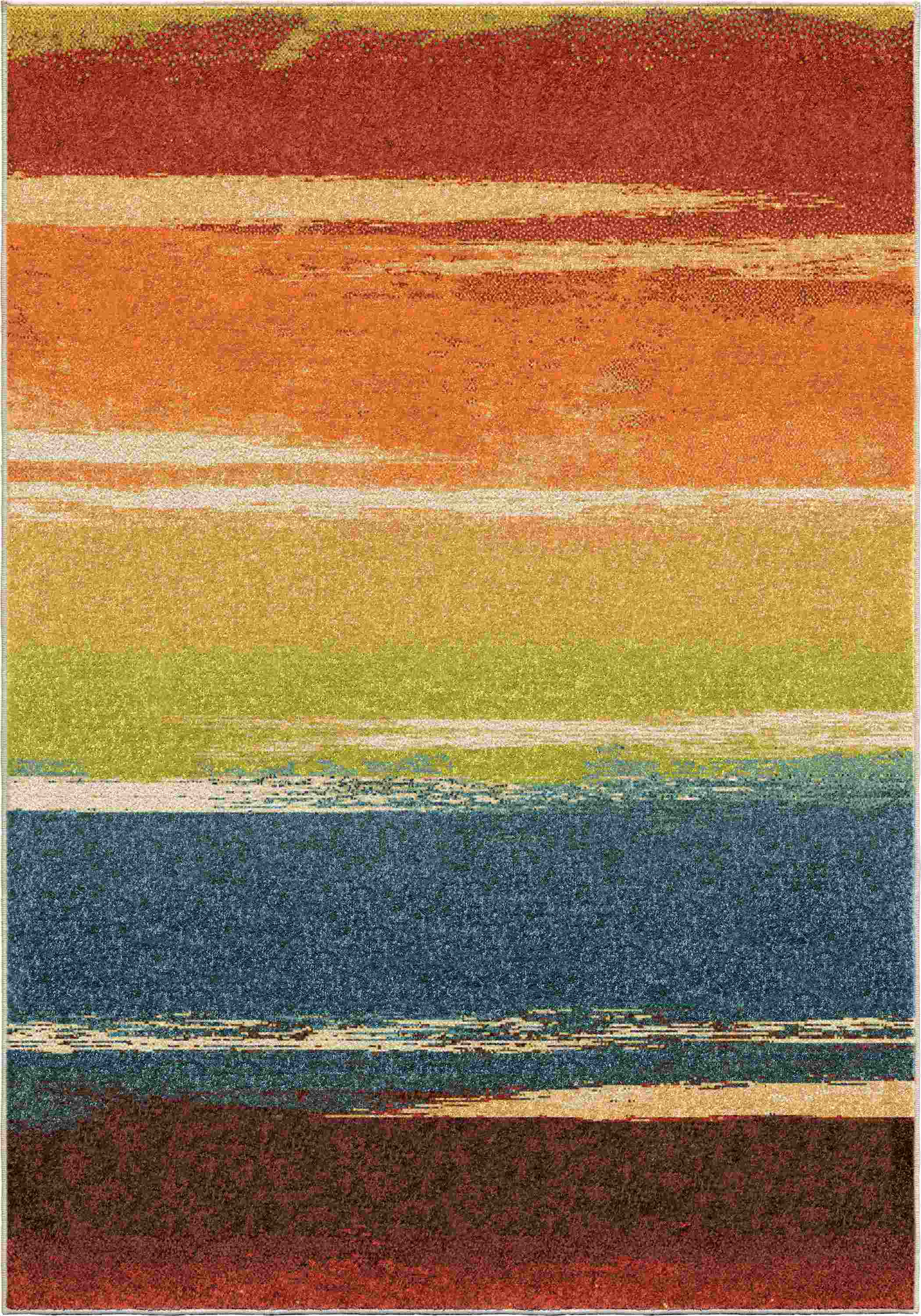 Orian Rugs Bright Color Stripes Brushed Multi Area Rug