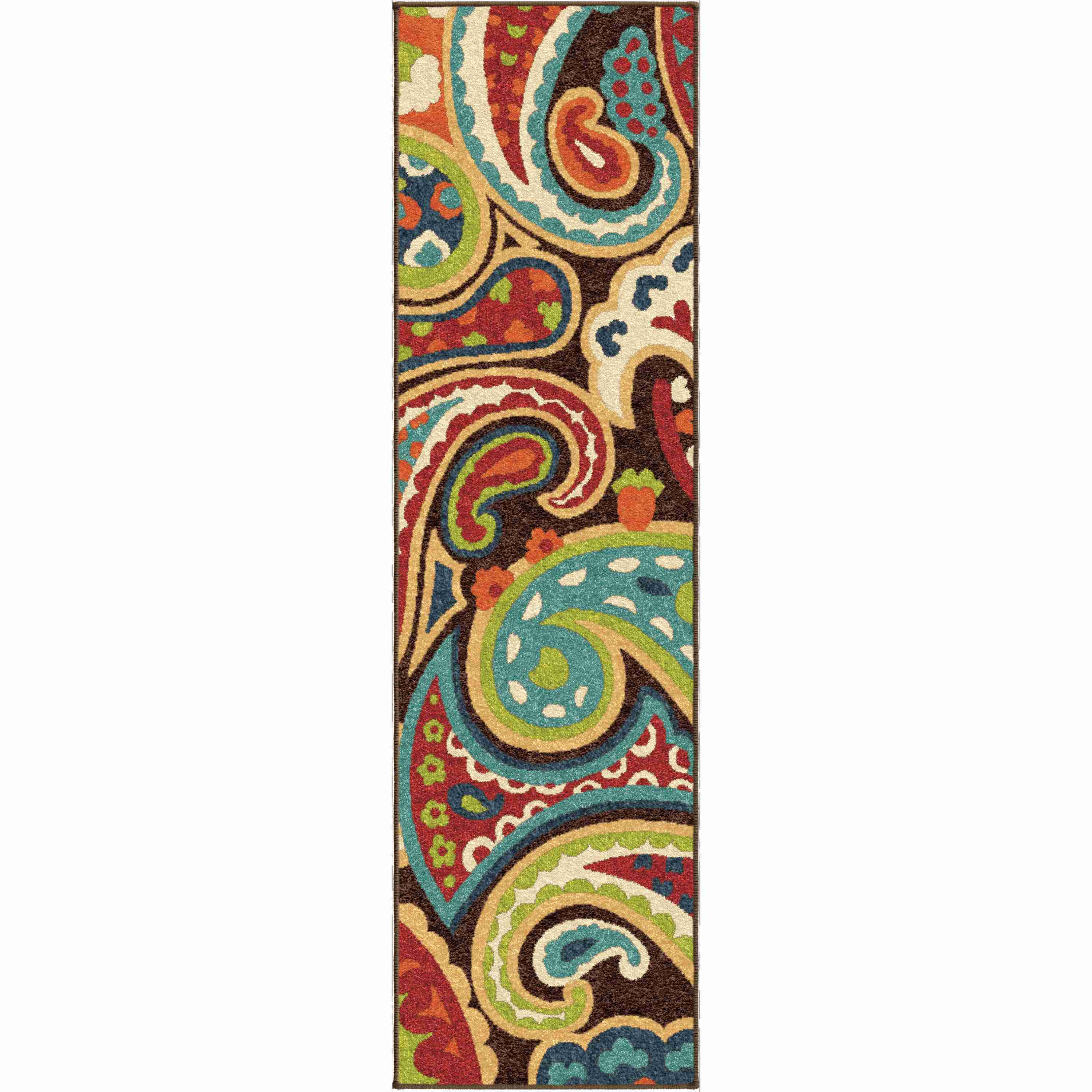 Orian Rugs Indoor/Outdoor Paisley Paisley Multi Runner