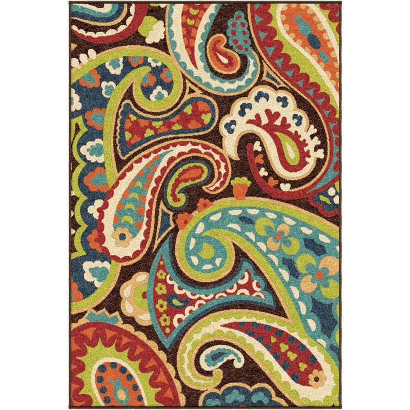 Orian Rugs Indoor/outdoor Paisley Paisley Multi Area Rug 6'5 X 9'8