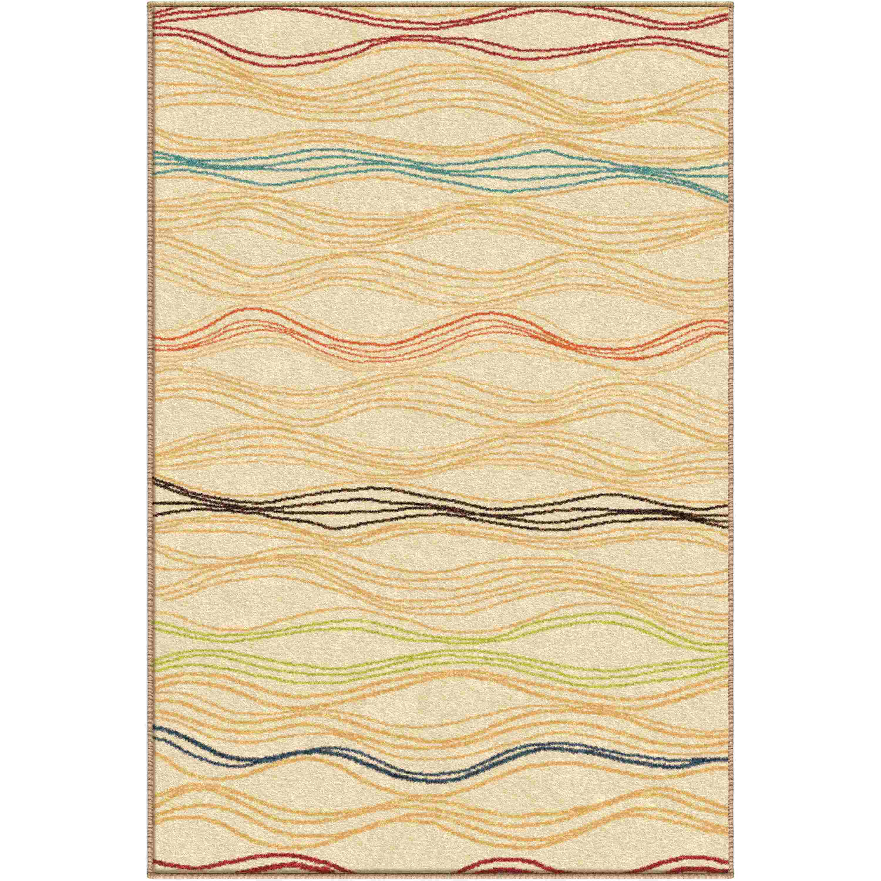 Orian Rugs Indoor/Outdoor Stripes Louvre White Area Rug