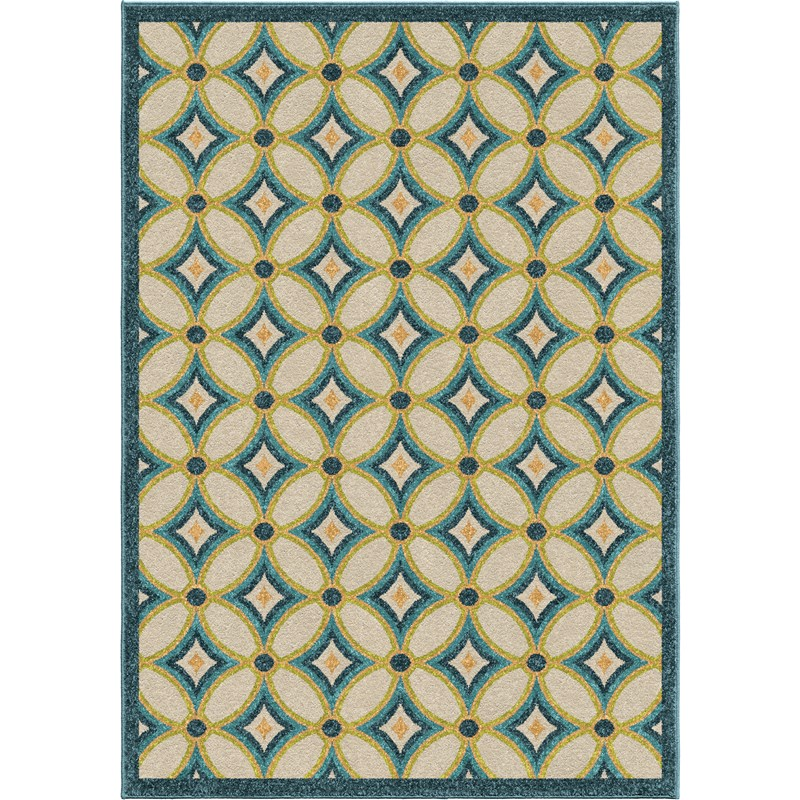 Orian Rugs Indoor/outdoor Circles Tezza Multi Area Rug 5'2 X 7'6