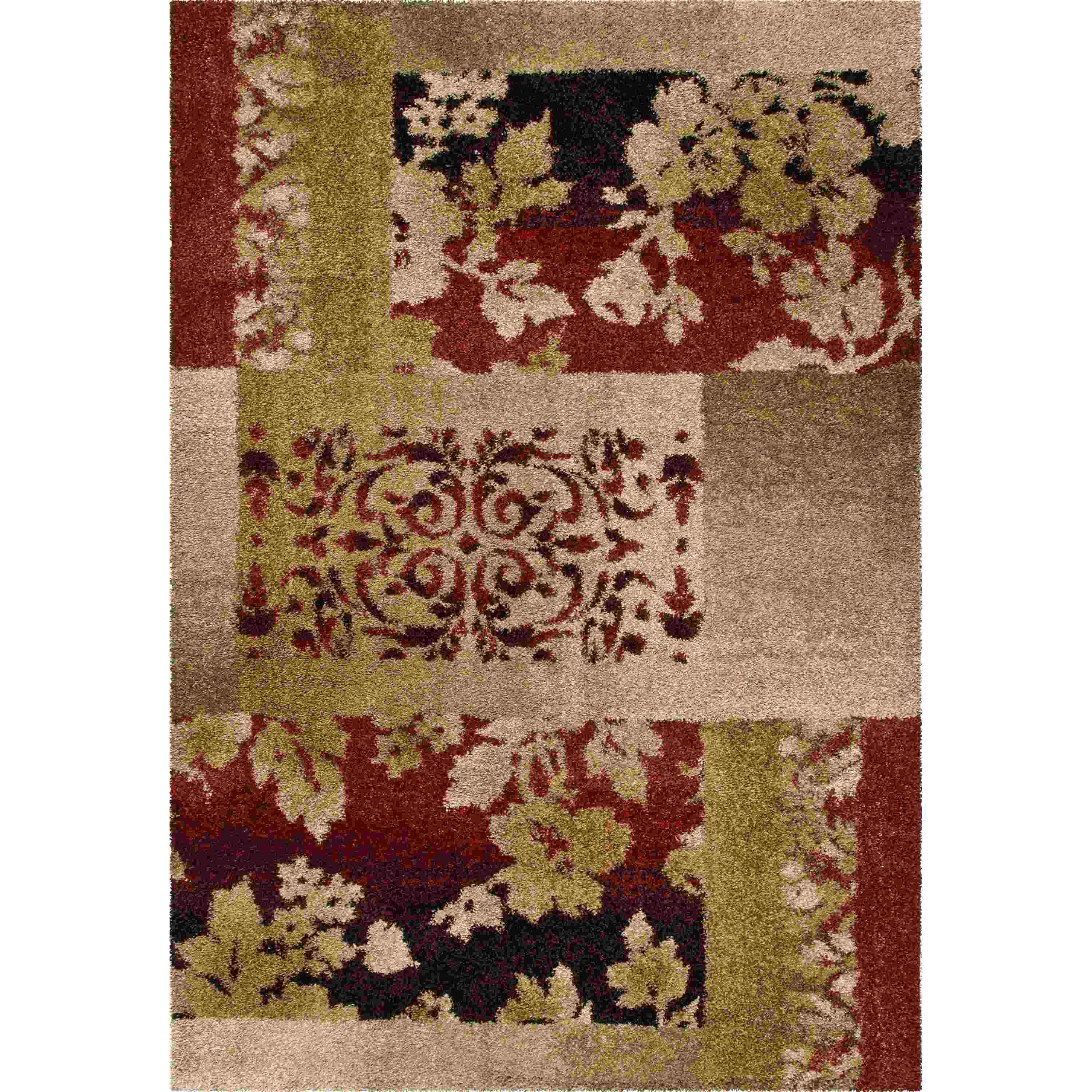Orian Rugs Plush Floral Ogletree Rouge Area Rug