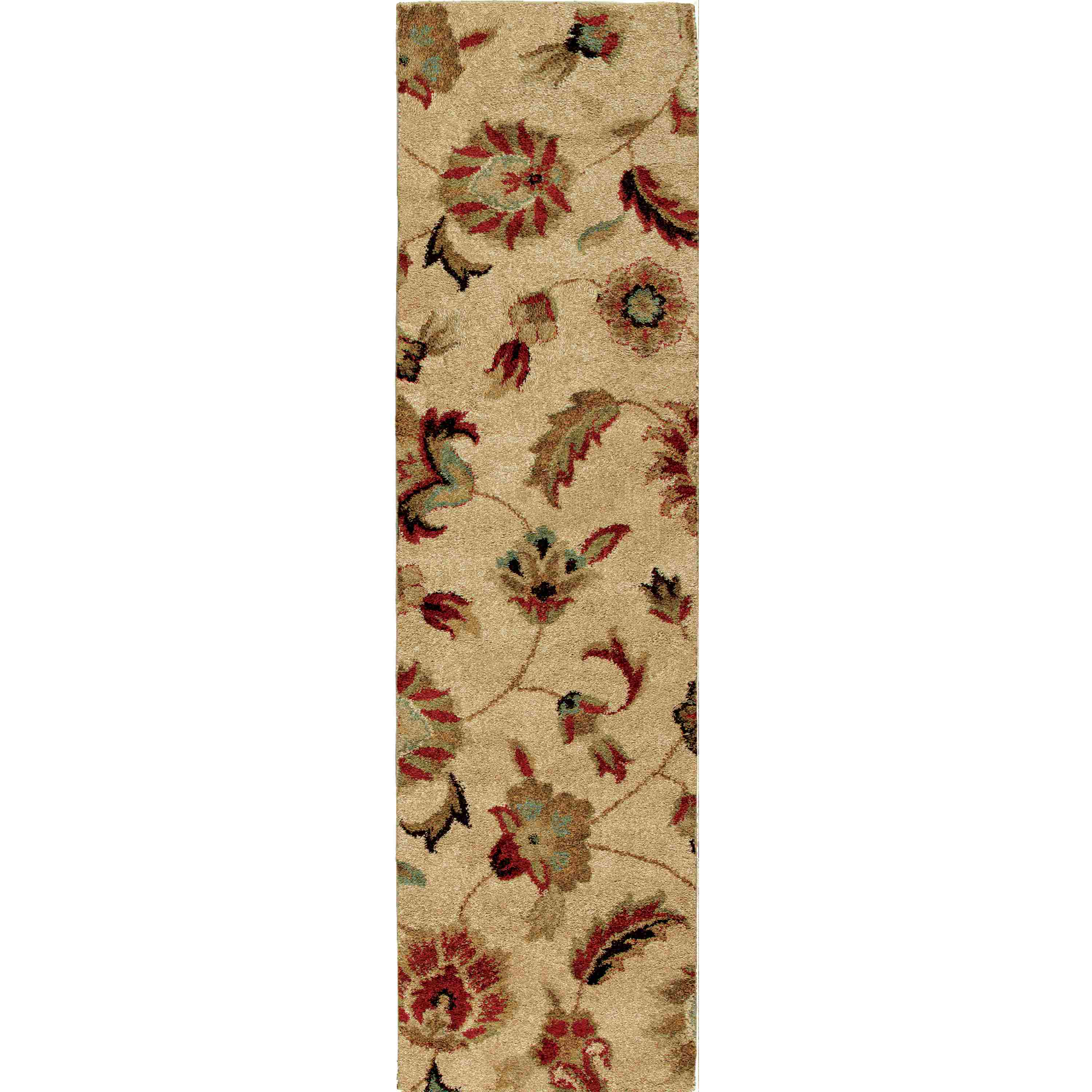 Orian Rugs Plush Floral London Bisque Runner