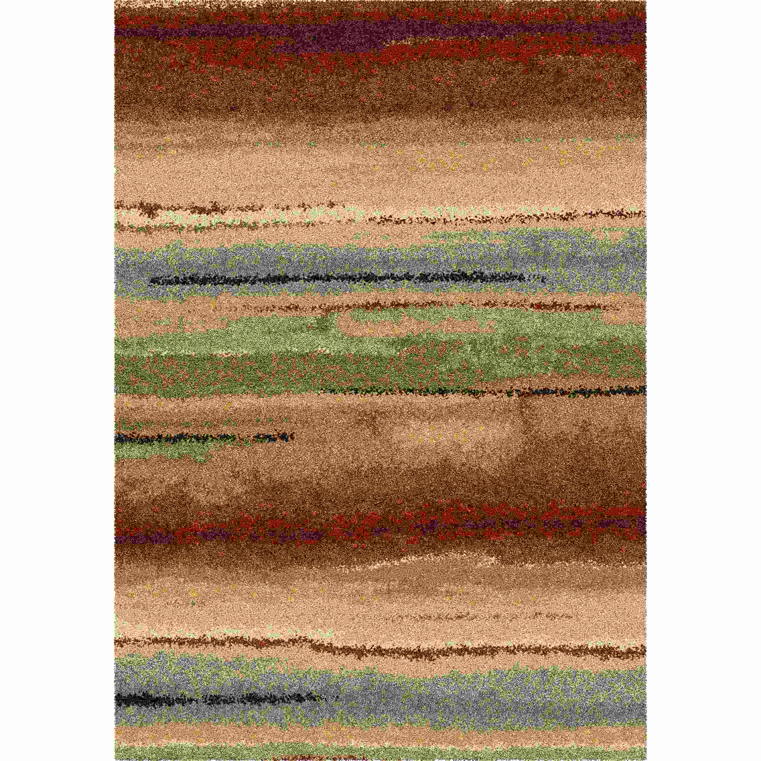 Orian Rugs Plush Stripes Dusk To Dawn Multi Area Rug