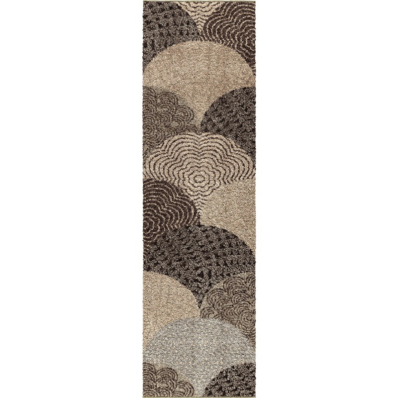 Orian Rugs Plush Abstract Oystershell Multi Area Rug 6'7 X 9'8