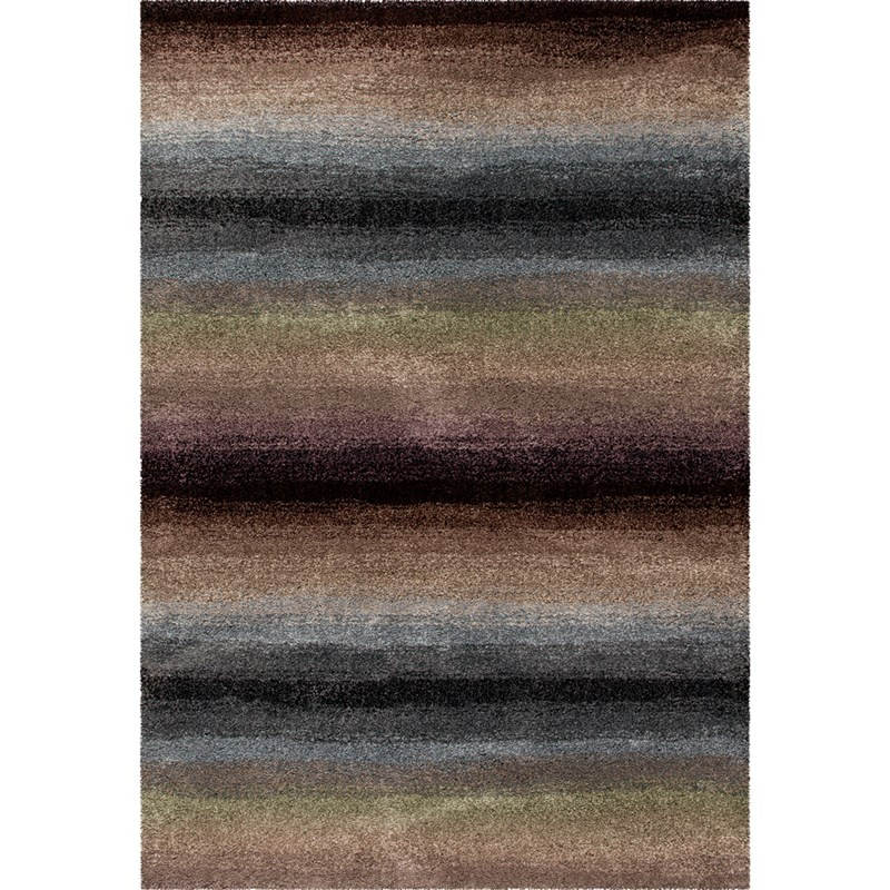 Orian Rugs Plush Stripes Skyline Multi Area Rug 6'7 X 9'8