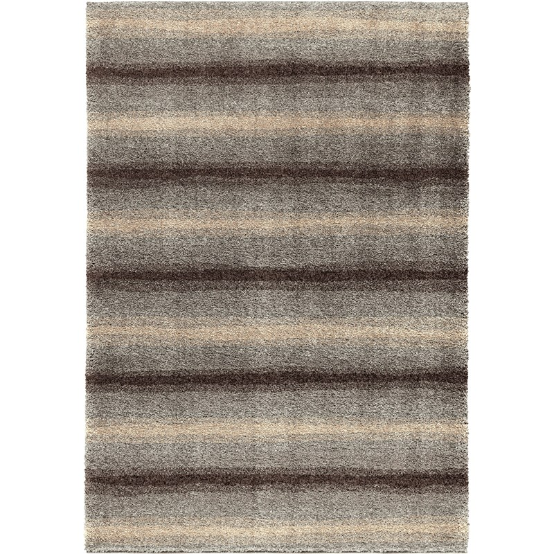 Orian Rugs Plush Abstract Skyline Grey Area Rug 5'3 X 7'6