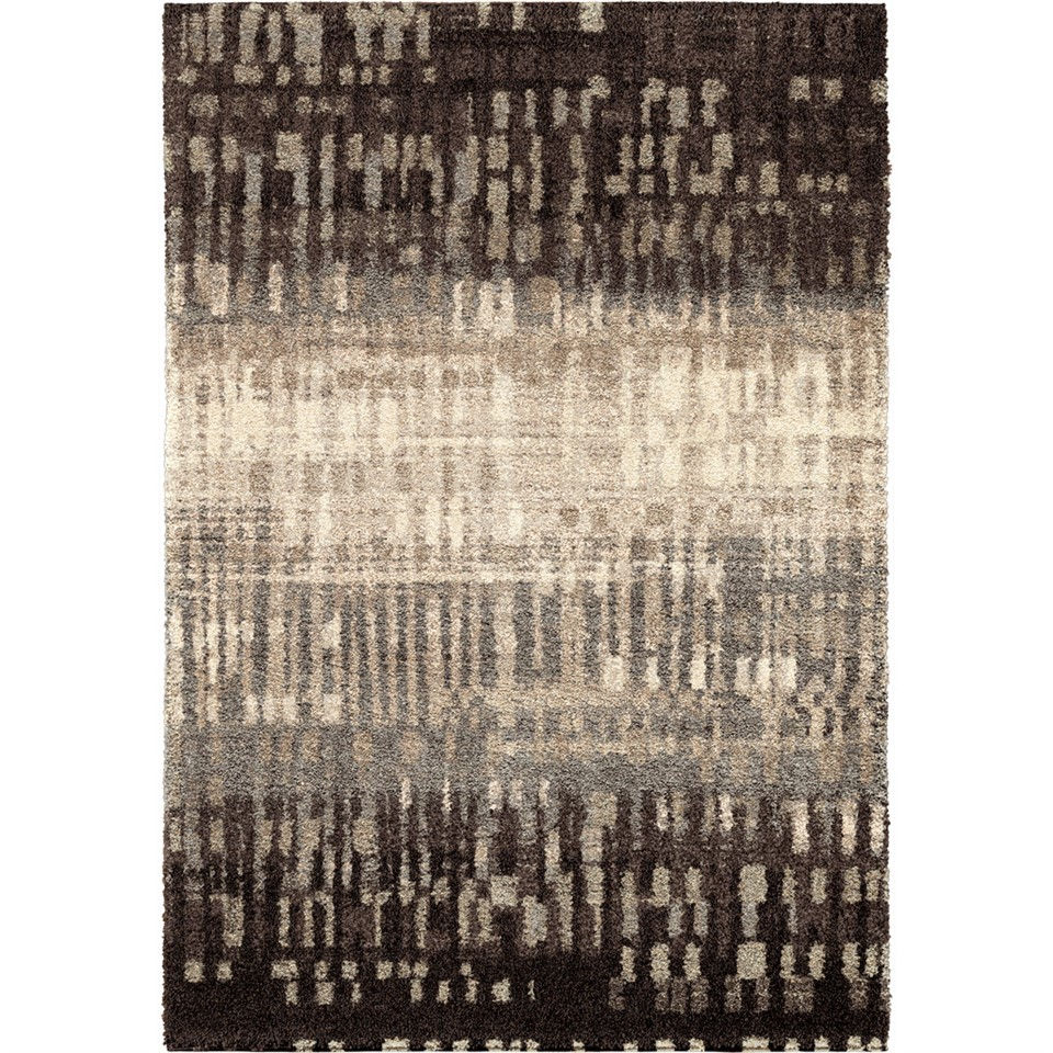 Orian Rugs Plush Abstract City Drizzle Slate Area Rug