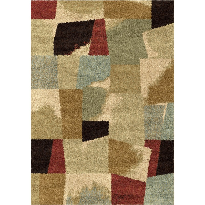 Orian Rugs Plush Abstract Rampart Multi Area Rug 5'3 X 7'6