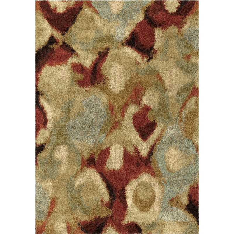 Orian Rugs Plush Stripes Misty Multi Area Rug 5'3 X 7'6