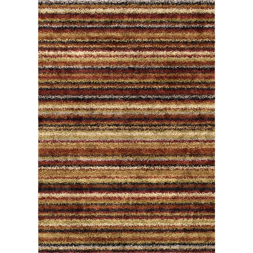Orian Rugs Shag Stripes Alberton Multi Area Rug 5'3 X 7'6