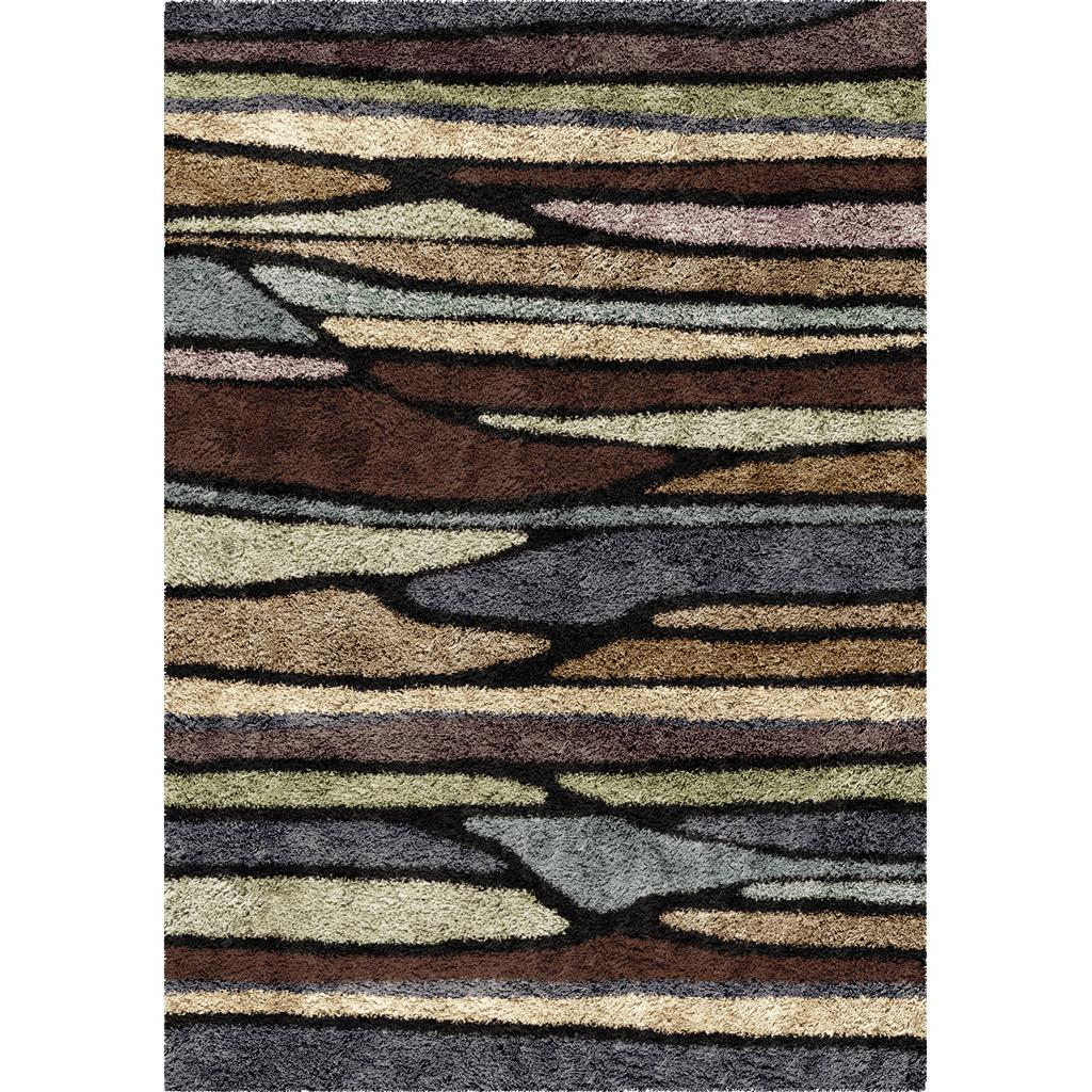 Orian Rugs Shag Stripes Plateau Multi Area Rug 5'3 X 7'6